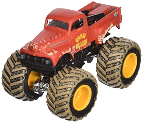 2013 Monster Jam Grave Digger (Red 1952 Ford) (Includes Crushable Car)