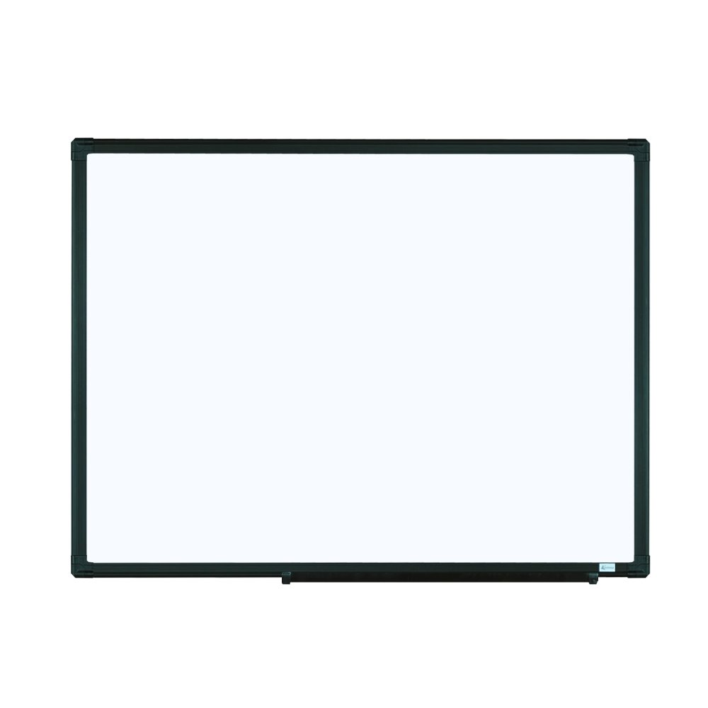 Lockways Magnetic Dry Erase Board - Magnetic Whiteboard/White Board 24 x 18 inch, Black Aluminium Frame Magnetic Board, 1 Aluminum Marker Tray, 1 Dry Erase Marker, 2 Magnets for School, Home, Office