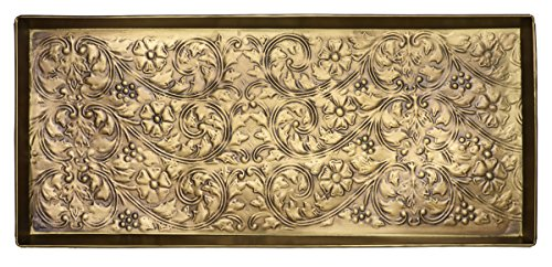 HF by LT Arabesque Pattern Metal Boot Tray, 30