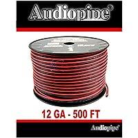 Audiopipe 500 Feet 12 Gauge Red Black Speaker Wire Home Car Zip Cord Cable