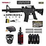 MAddog Tippmann U.S. Army Alpha Black Elite Tactical w/E-Grip Expert Paintball Gun Package – Black