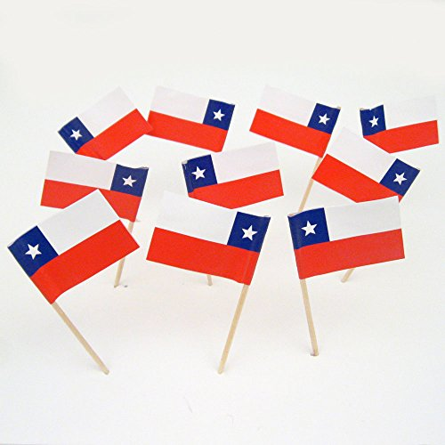 Chile Chilean Flag Toothpicks 100 product image