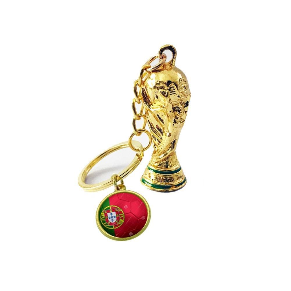 Balón de fútbol de fútbol llavero Amuleto de la suerte Llave metal ...