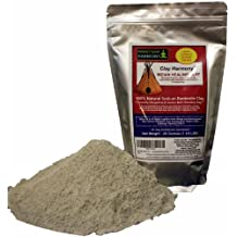 CLAY HARMONY 20 OZ Best Indian Healing Clay Sodium Bentonite (Stronger than Calcium Bentonite!) Use For Facial Masks, Bath, Foot Baths, Wraps, & Poultices! Aztec Tribes Used Clay As Secret Detox!