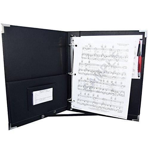 MSP Professional (9.5'' x 12'') Letter Size Music/ Choral Folder w/ Handle & Detachable Strap- Medium (standard shipping) by MSP Portfolio