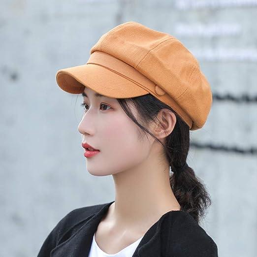 Sombrero Octogonal de Lana para Mujer Color sólido Moda Pato ...