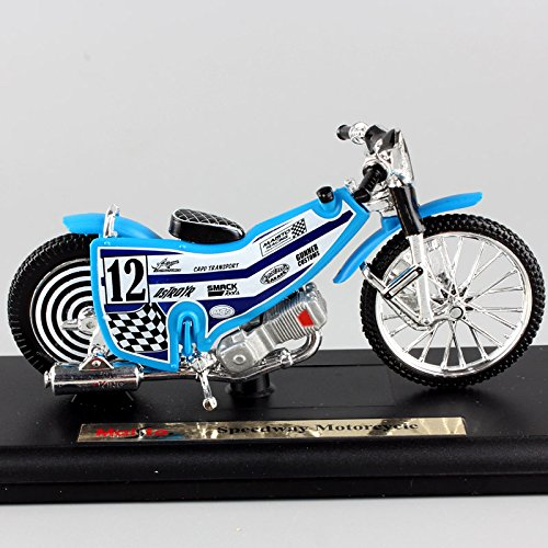 GreenSun 1:18 Scale Mini No.12 Speedway Motorcycle Model Track Racing Dirt Bike SGP diecast Replica car Metal Model Collectible