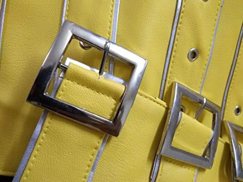 Mercury Pour Cuir Wembley Hommes Yellow 3xl Concert Veste xxs En Freddie Synthétique 71S6wdSqT