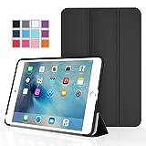 iPad Mini 4 ケース - ATiC Apple iPad Mini 4 (2015) 7.9 インチ iOS タブレット専用開閉式三つ折薄型スタンドケース。BLACK (オートスリープ機能付き) (iPad Mini 3/2/1に適応ない)