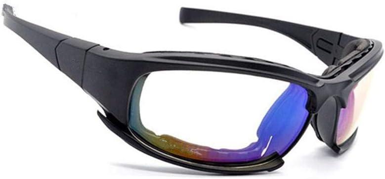 Zjcpow Gafas de Sol Deportivas Ejército al Aire Libre Ventilador Gafas polarizadas Gafas CS Juego Gafas Camping Gafas Especiales Lente Multicolor Puede ser reemplazado Actividades al Aire Libre