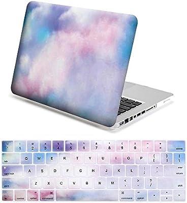 Lenboes Snap On - Carcasa rígida para Apple MacBook de 12 pulgadas, Air 11 13, Pro 13 y Pro Nuevo de 13 o 15 pulgadas, color Watercolor Mist MacBook ...
