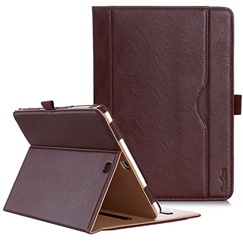 ProCase Samsung Galaxy Tab S2 9.7 Case - Leather Stand Folio Case Cover for Galaxy Tab S2 Tablet (9.7 inch, SM-T810 T815 T813) -Brown (Samsung Galaxy S2 Plus Back Cover)