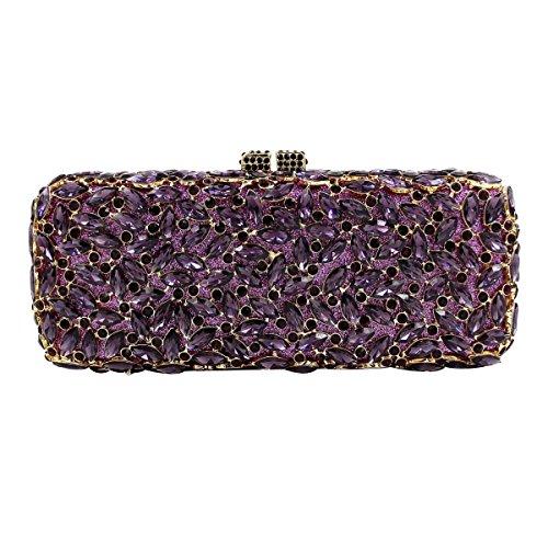 Banquet De Mode De Sac Purple De Haut Soirée à Diamant Sac Gamme Main Sac Diamant Femme 5fqwPpX
