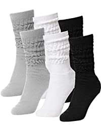 Womens Or Mens Fitness Workout Gym Slouch Socks 6 Pack