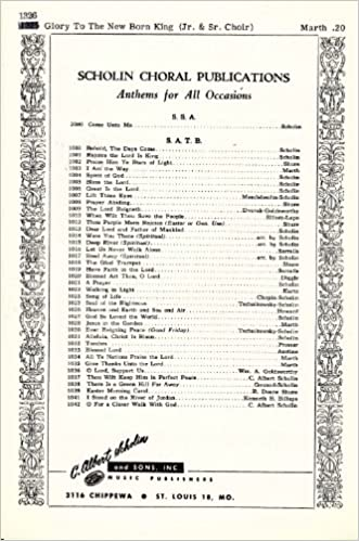 Glory To The Newborn King Sheet Music For Junior And