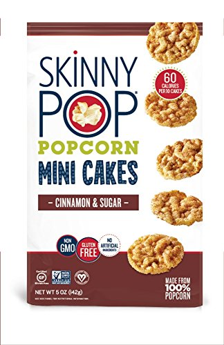 SKINNYPOP Cinnamon & Sugar Popcorn Mini Cakes, Gluten Free Popcorn, Non-GMO, No Artificial Ingredients, A Delicious Source of Fiber, 5 Ounce