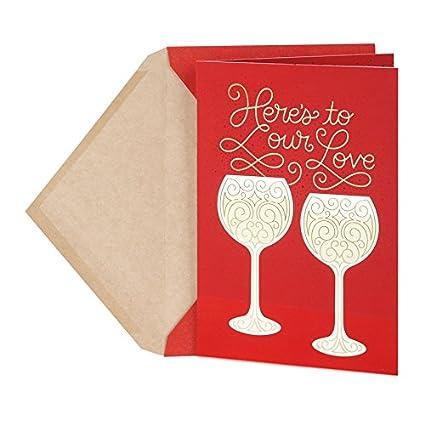Amazon Com Hallmark Valentine S Day Anniversary Card For