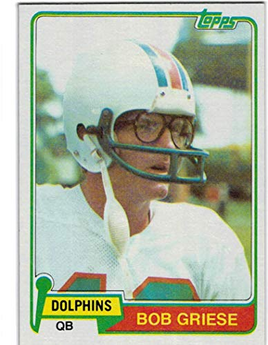 1981 Topps Miami Dolphins Team Set with Bob Griese & Tony Nathan RC - 16 NFL Cards