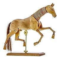 "US Art Supply Wooden Horse Artist Drawing Manikin Articulated Mannequin (8"" Horse)"
