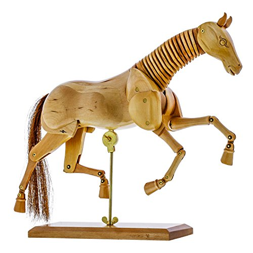 US Art Supply Wooden Horse Artist Drawing Manikin Articulated Mannequin (8'' Horse) by US Art Supply