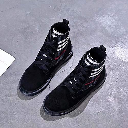 HOESCZS Chaussures Femmes Chaussures Hautes Chaussures Chaussures Hautes Femmes Neuves 37 Black 4a0b5f