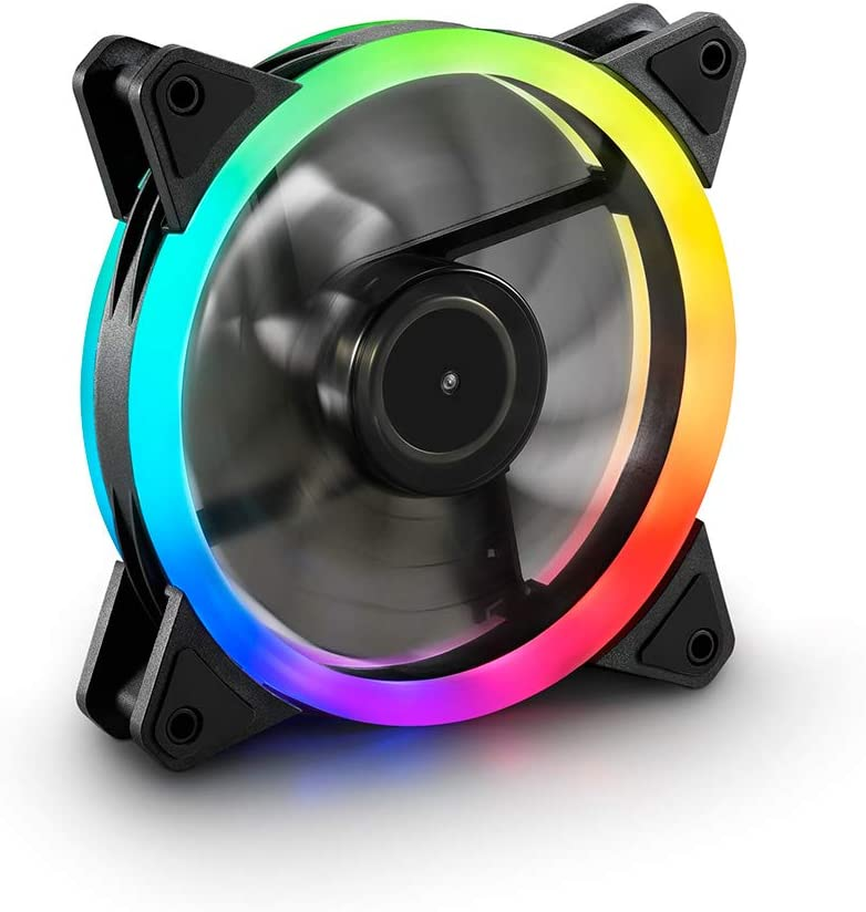 Sharkoon Shark Blades RGB Fan - Ventilador para PC, Ordenador Gaming, Leds, Negro