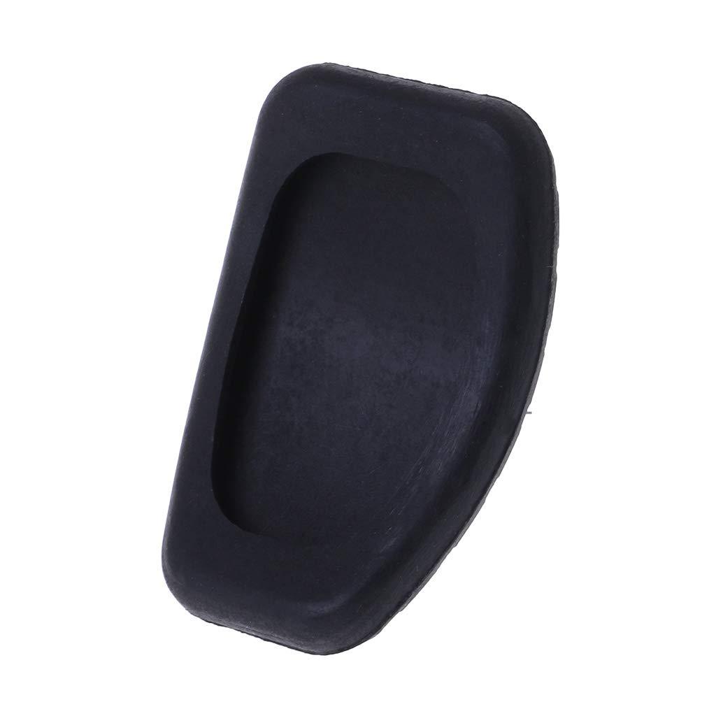 CADANIA Cubierta de la Almohadilla de Goma para el Embrague y el Pedal del Freno para Renault Megane Laguna Clio Kango Scenic CCY Negro