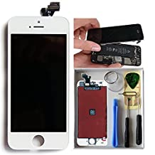 LCD Display Touch Screen Digitizer Frame Assembly Full Set Screen Replacement for iPhone 5/5c/5s white black iphone accessories(for iphone5c white)