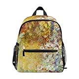 Flowers School Backpack Canvas Rucksack Large Capacity Satchel Casual Travel Daypack for Kids