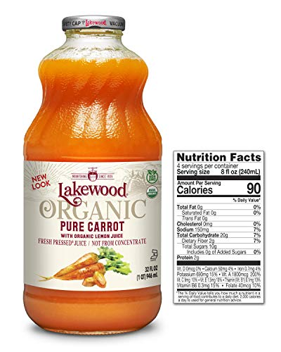 - Lakewood Organic PURE Carrot Juice, 32-Ounce Bottles (Pack of 6)