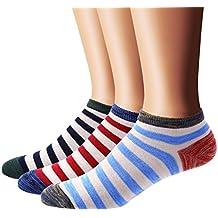Flora&Fred Men's 3 Pair Pack Vintage Style Cotton No Show Socks