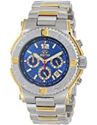 REACTOR Mens 75103 Critical Mass Chronograph Blue Dial Two-Tone Watch