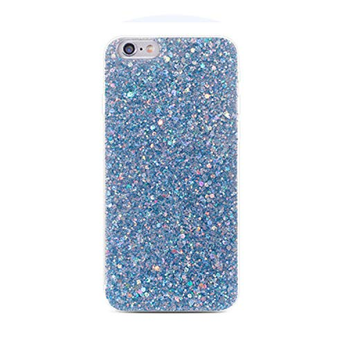 Silicone Bling Glitter Crystal Sequins Phone Case for Huawei P Smart P20 Pro P10 P8 P9 Lite 2017 Nova 2 2S 2i Honor 8 9 10 Cases,Blue,P20 -