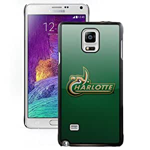 Beautiful And Popular Designed With Fcs North Carolina Charlotte 49ers 03 Protective Cell Phone Hardshell Cover Case For Samsung Galaxy Note 4 N910A N910T N910P N910V N910R4 Black