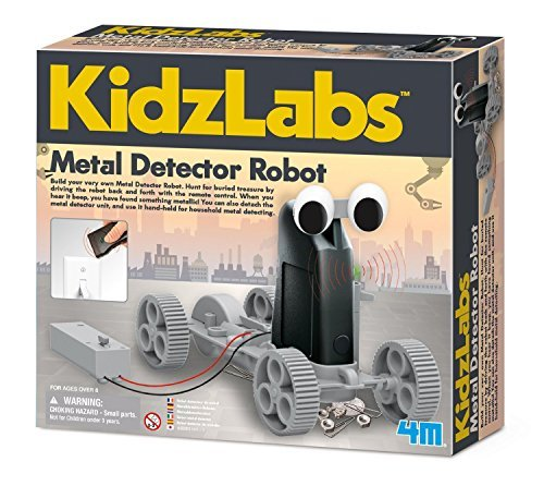 4M Metal Detector Robot Build Your Very Own Treasure Finding Device Learn The Principles Behind Metal Detectors For Ages 8 ()