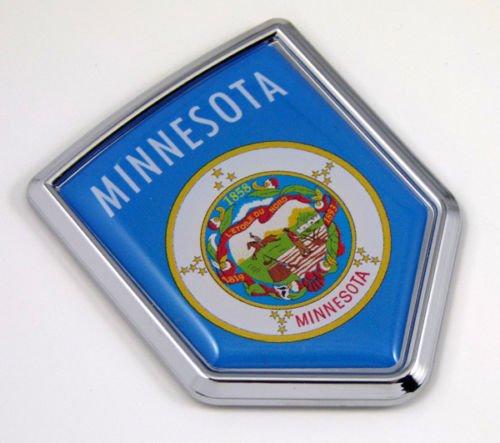 Minnesota MN USA State Flag Car Chrome Emblem Decal Sticker bike laptop boat 3dd Sticker badge