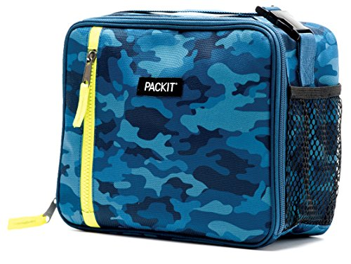 PackIt Freezable Classic Lunch Box, Blue Camo ()