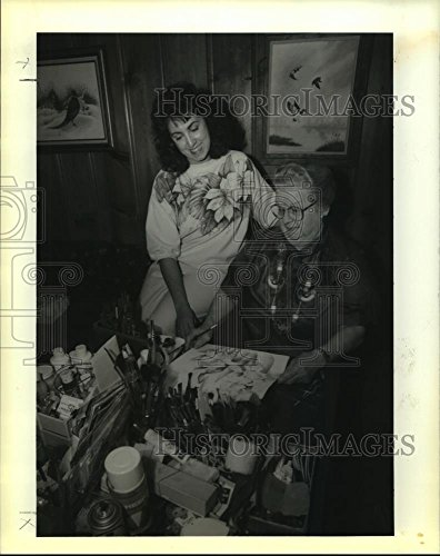 1990 Press Photo Members of the National Society of Tole and Decorative Painters - Society Decorative Painters