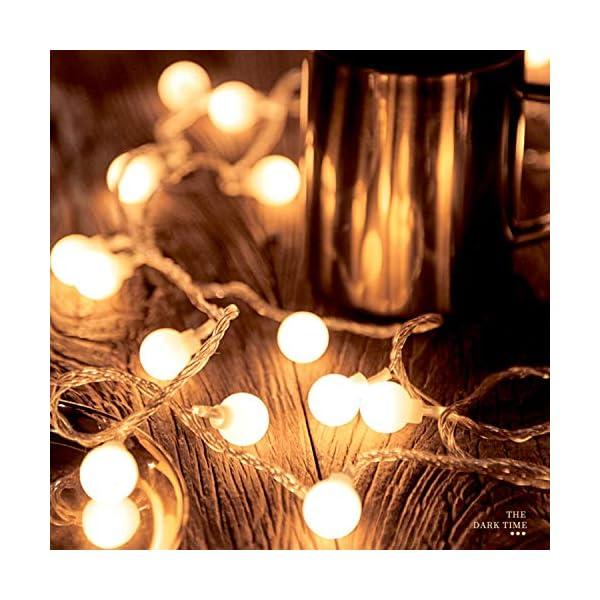 BANCELI-Catena Luminosa Solare - 100LED 10M Luci Decorative Stringa Solari Impermeabile Illuminazione per Natale Luce Solare a Sfera di Cristallo per Giardino, Patio, Alberi (Bianco Caldo) 2 spesavip
