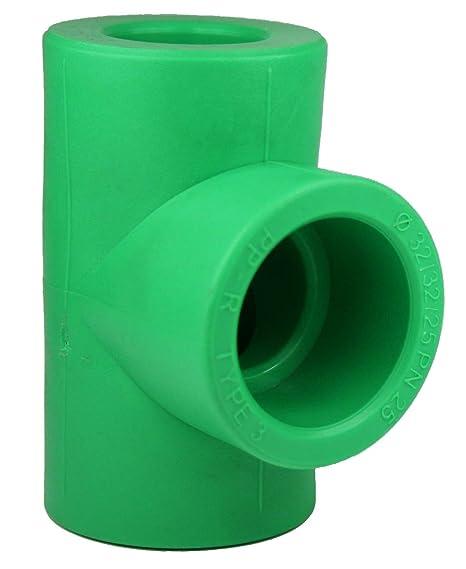 PPR Aqua de Plus Reductor de pieza en T de 32 x 32 x 25 mm