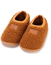 Anddyam Kids Toddler Slipper Socks Non-Slip Knit Indoor Home Shoes for Girls and Boys