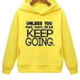 Mustang Kids Unless You Puke Faint Or Die Keep Going Hoodie with Side Pockets (Y,L)