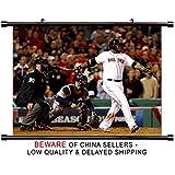 David Ortiz MLB Baseball Superstar Fabric Wall Scroll Poster (32x24) Inches