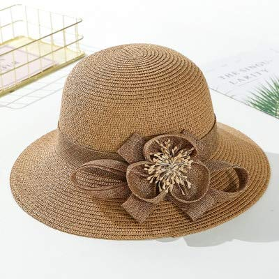 Greenery-GRE Summer Beach Sun Straw Hats for Toddler Kids Girls Wide Brim Lace Bow Floppy Packable Travel Bucket Hats UPF 50 Crushable UV Fishing Cap Foldable Sun Protection Hat
