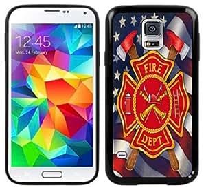 Fire Dept Fireman Samsung Galaxy S5 Black CaseKimberly Kurzendoerfer