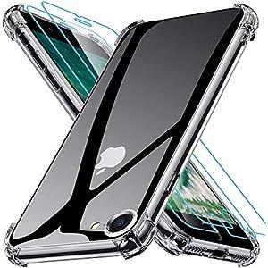 Joyguard Coque Compatible avec iPhone Se 2020, iPhone 8, iPhone 7 avec 2 Verre trempé Protection écran – 4.7 Pouces…