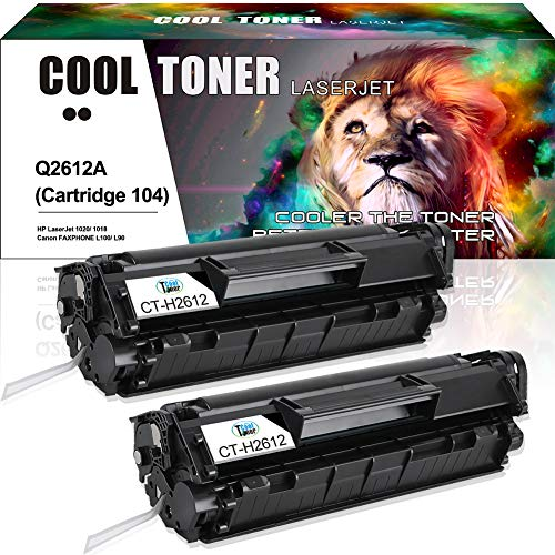 Cool Toner 2PK Compatible Toner Cartridge Replaces for HP 12A Q2612A FX-10 FX-9 Canon 104 Toner Cartridge 104 Canon ImageClass D480 MF4150 MF4270 MF4350d MF4370dn D420 HP 1020 3015 3030 - Hp Toner Q2612a