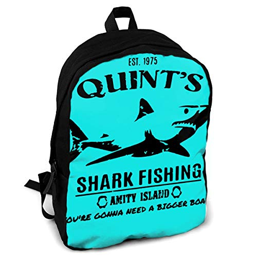 (CZZD Quints Shark Travel Laptop Backpack Schoolbags Men and Women On Campus)