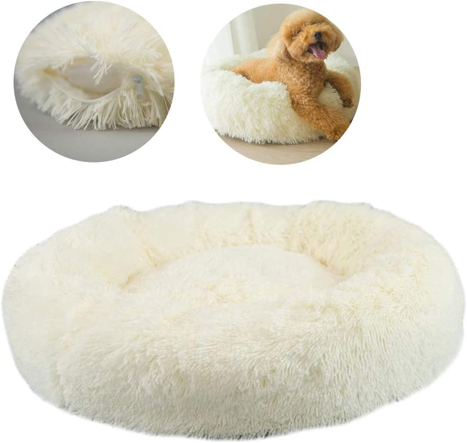 Dog Bed Ultra Plush Sofa-Style Couch Pet Bed for Dogs Cats Round Donut Cat and Dog Cushion Bed Sizes