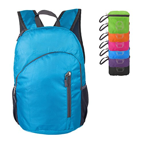 (Tourdarson Ultra Lightweight Packable Backpack Hiking Daypack (20L,0.45LB) Durable Handy Backpacks perfect for Biking School Camping Outdoor Travel(Blue))